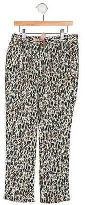 Catimini Girls' Knit Printed Pants