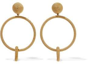 Oscar de la Renta Gold-Tone Cord Clip Earrings