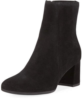 La Canadienne JoJo Suede Block-Heel Booties