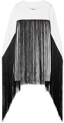 MM6 MAISON MARGIELA Fringed French Cotton-terry Sweatshirt