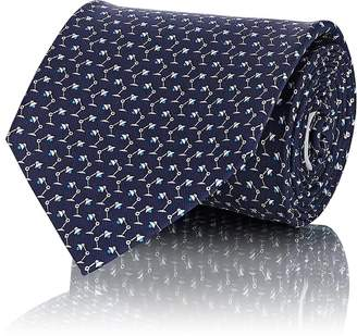 Salvatore Ferragamo Men's Desk-Lamp-Print Silk Twill Necktie