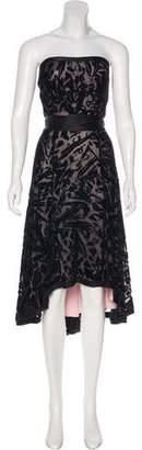 Diane von Furstenberg Strapless Velvet Dress