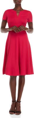 Lafayette 148 New York Split Collar A-Line Dress