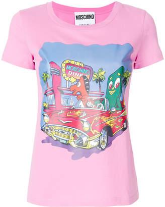 Moschino diner print T-shirt