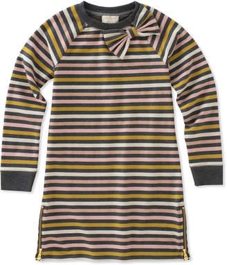 Kate Spade metallic stripe dress w/ zip hem, size 2-6