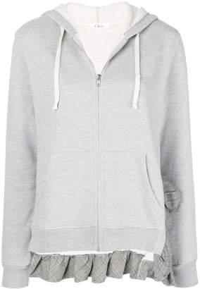 Clu (クルー) - Clu ruffled hem hoodie