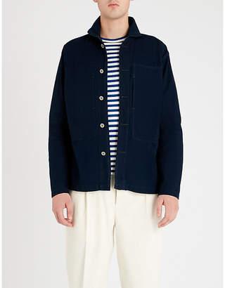 RRL Oversized-pocket regular-fit denim shirt