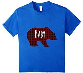 Buffalo David Bitton Red Plaid Baby Bear Matching Family Pajama T-Shirt