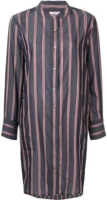 Etoile Isabel Marant striped collarless shirt dress