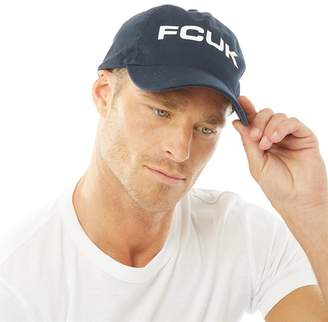 53beee76a8b French Connection Mens Bold Washed Cotton Cap Marine