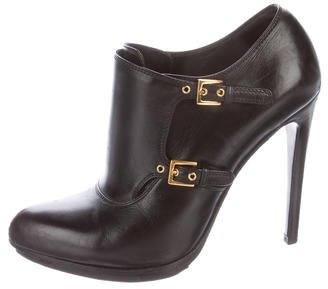 Tom Ford Double-Monk Leather Booties