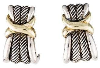 David Yurman X Cable Drop Earrings