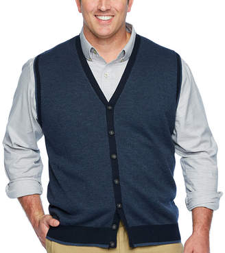Van Heusen Mens Y Neck Sweater Vest Big and Tall