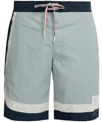 80a5451ce65 Thom Browne Striped Board Shorts - Mens - Grey