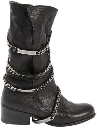 Thomas Wylde Leather biker boots