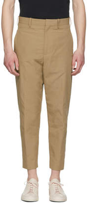 Neil Barrett Beige Textured Cotton Trousers