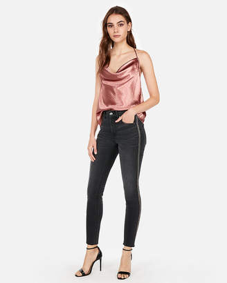 Express Satin Cowl Neck T-Back Cami