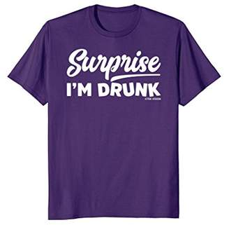 Surprise I'm Drunk Funny Drinking Party T-Shirt