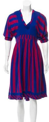 Marc by Marc Jacobs Striped Midi Dress