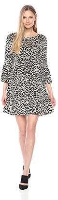 Julian Taylor Women's Leopard Printed Velvet Dress