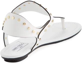 Jimmy Choo Dara High Dressy Sandal, White