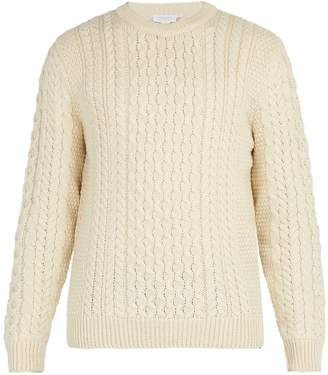 Sunspel Wool cable-knit sweater