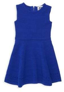 Milly Minis Little Girl's Textured Fit-&-Flare Dress