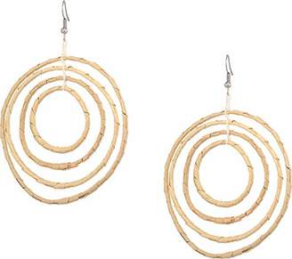 "Kenneth Jay Lane Women's 4"" Graduated Circle Pierced Earrings"