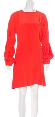 Tibi Silk Blouson Dress