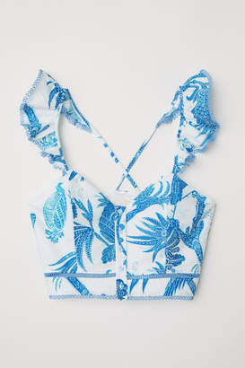 H&M Bustier with Ruffles - Blue