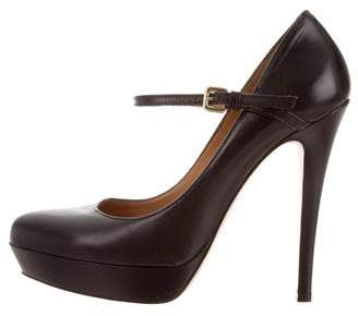 Strenesse Leather Platform Pumps