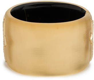 Alexis Bittar Crystal Encrusted Jagged Hinge Bracelet