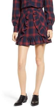 The Fifth Label Nash Check Ruffle Hem Skirt