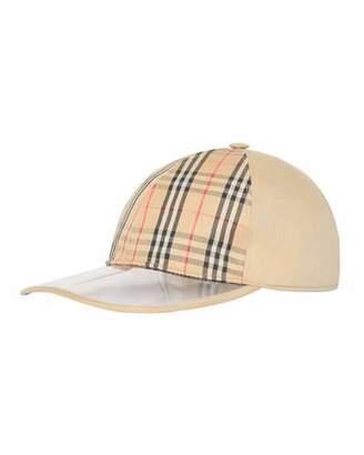 super cute 6457f 68b8b lyst burberry vintage check pvc baseball cap ... f7152fcd9d60