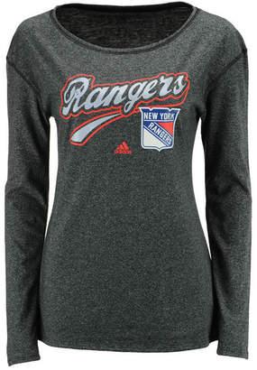 adidas Women's New York Rangers Pearlized Long Sleeve T-Shirt