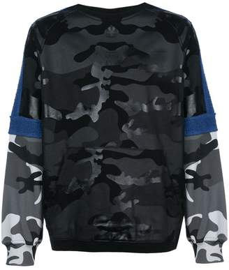 Mostly Heard Rarely Seen mixed camouflage sweatshirt