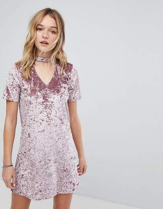 Hollister Crushed Velvet Choker Dress