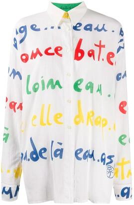 JC de CASTELBAJAC Pre-Owned 1980s letter print shirt