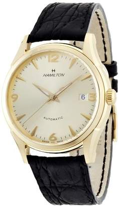 Hamilton Men's H38435721 Jazzmaster Thinomatic Champagne Dial Watch