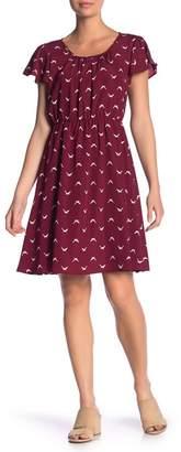 WEST KEI Seagull Scoop Neck Dress