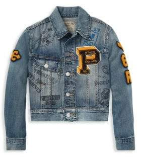 Ralph Lauren Boy's Varsity Denim Jacket
