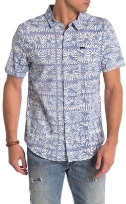 RVCA Flower Block Short Sleeve Regular Fit Shirt