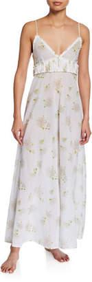 La Costa Del Algodon Florine Floral-Pattern Long Nightgown
