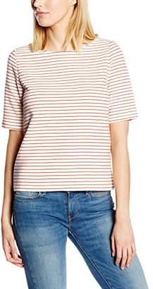 Benetton Women's Jersey Stripe Short Sleeve T-Shirt