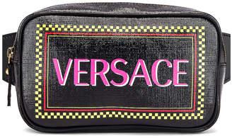 Versace Vintage Logo Bum Bag in Black Multicolor | FWRD
