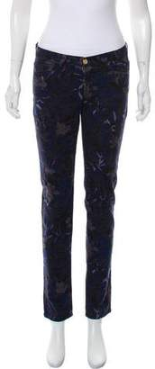 See by Chloe Printed Mid-Rise Jeans