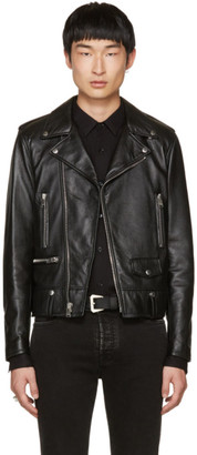Saint Laurent Black Leather Blood Luster L01 Jacket $5,490 thestylecure.com