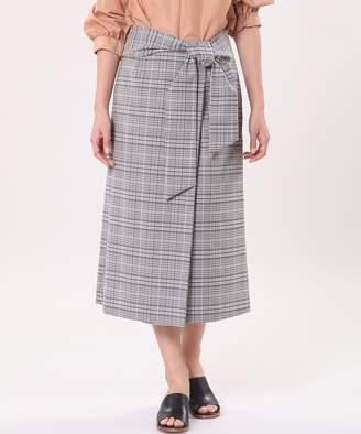INED (イネド) - INED 【春の新作】ウエストリボンラップ風スカート