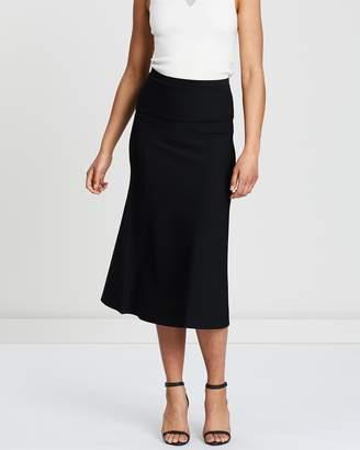 Theory Long Flare Knit Skirt