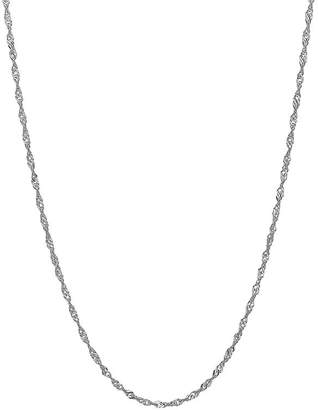 FINE JEWELRY 14K White Gold 18 Sparkle Singapore Chain Necklace